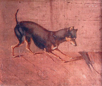 English Toy Terrier with a rat